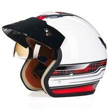 Мотоциклетный Шлем Chopper Cruiser 3/4 с Открытым Лицом Старинные Шлем 381D Moto Шлем Каско Capacete motocicleta Пилотные шлемы