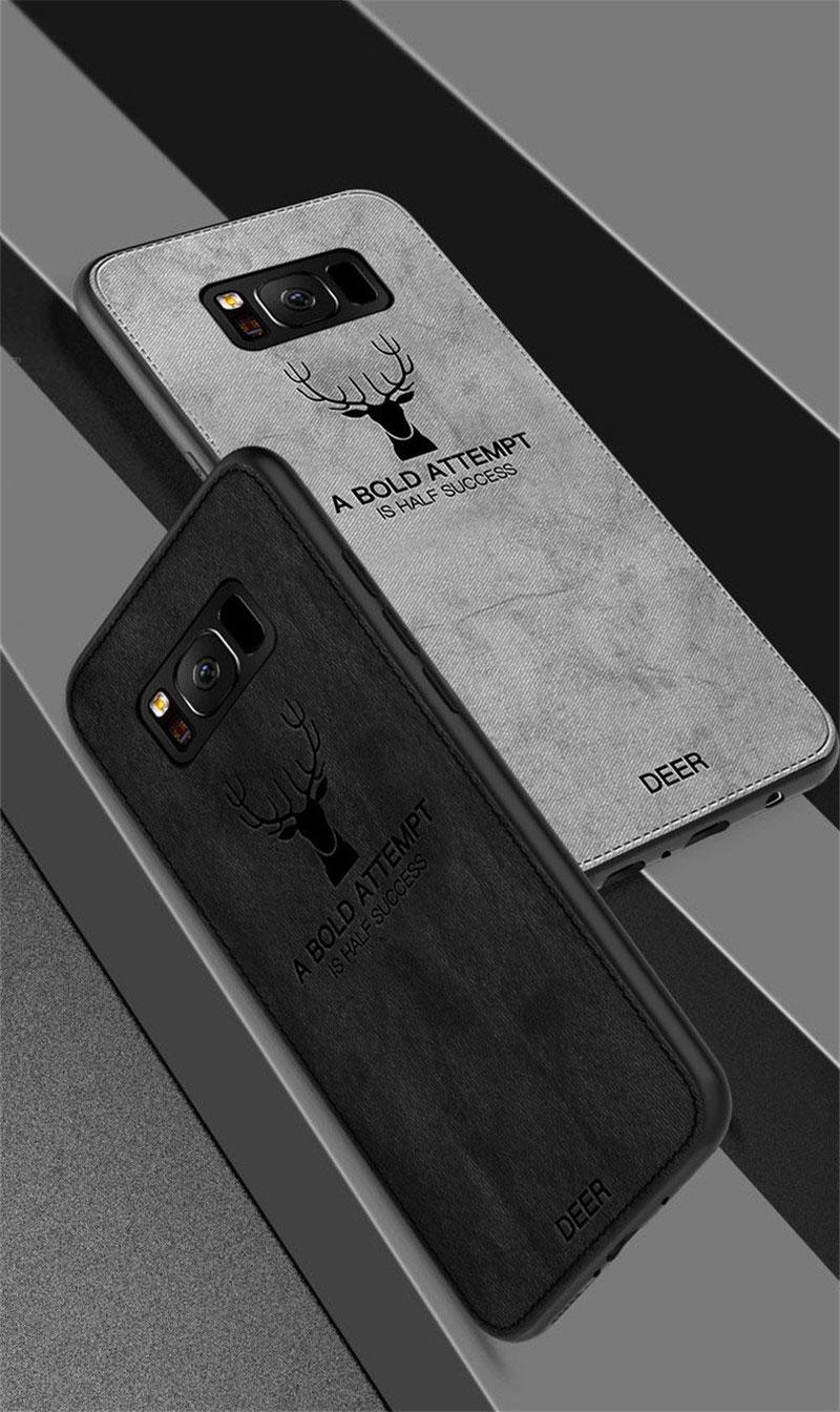 3d Deer Patterned Cloth Silicone Case For Samsung Texture Tempered Glass Premium Full Half Curved Glue Uv Nano Liquid Light S8 Plus S9 Description Reviews