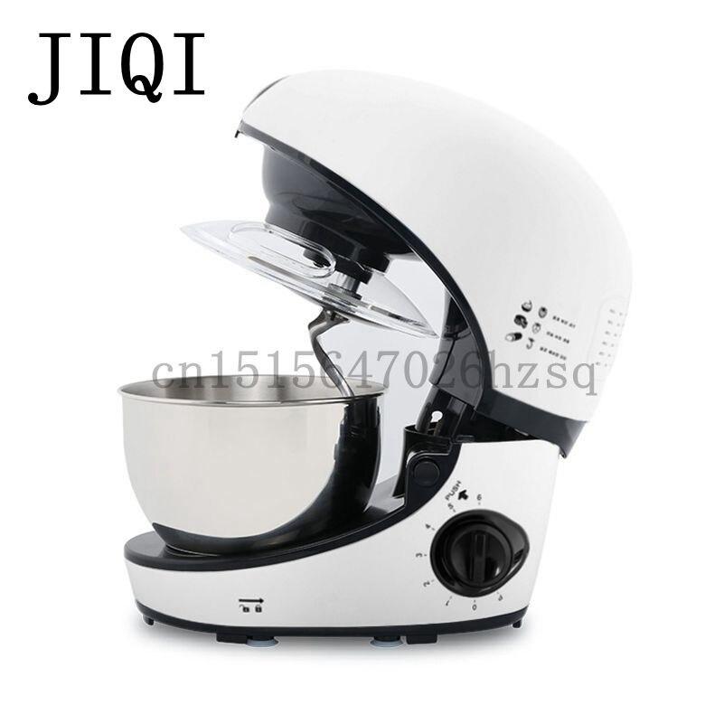 JIQI Household electric Stand mixer kitchen helper Food dough mixers egg cream whipping machine,white