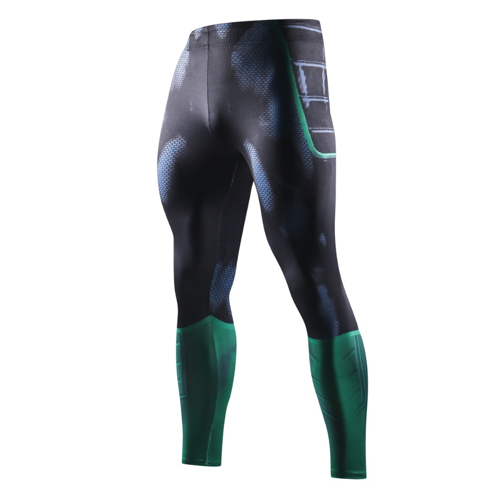 NEW Green Lantern 3D Printed Leggings Men Pattern Compression Tights Pants New Skinny Sweatpants crossfit Fitness Trousers Male