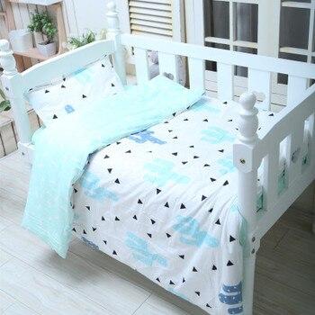 С наполнением кактуса скандинавские детские постельные принадлежности набор кроватки одеяло хлопок удобный комплект sabanas льняной комплек...