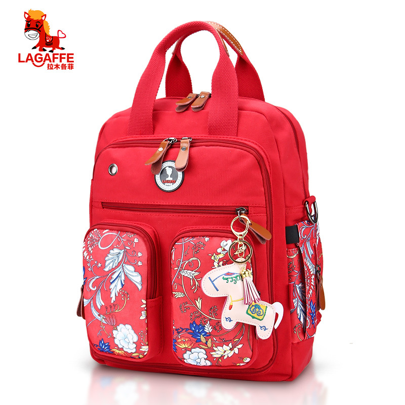 3Colors Fashion Diaper Bag Multi-function Print Maternity Nappy Bag Brand Baby Bag Travel Backpack Nursing Bag 6 colors free shipping multi function inner container hobos nappy diaper baby diaper predelivery bags backpack hanging page 9