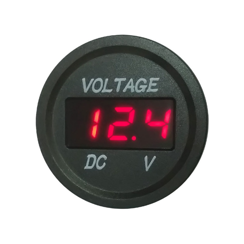 Universal <font><b>Car</b></font> <font><b>Battery</b></font> Voltmeter LED Digital Display Waterproof Motorcycle Voltage Meter Led Digital Voltmeter image
