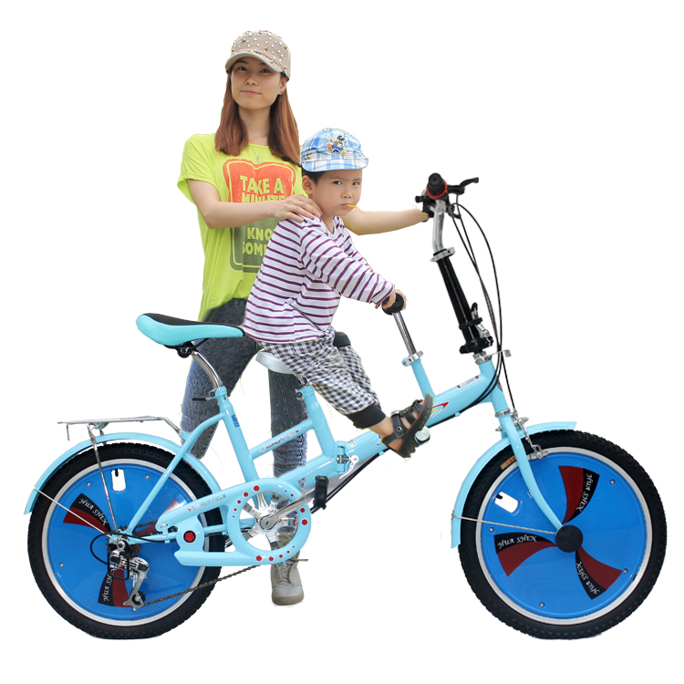 Parent-child car mother-child folding bicycles two-seater can take children bicycle lady's shifting from mother to child bicycle цена 2016