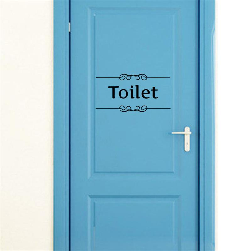 Bathroom Design Toilet Door : Aliexpress buy toilet door entrance sign stickers
