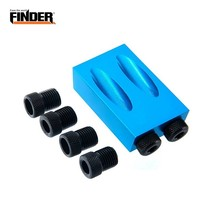 FINDER 15 Degree Angle Woodworking Hole Drill Locator Set Jig Bit Kit Guide Pocket Hole Puncher Jig Set For DIY Carpentry Tools handle installation jig woodworking tools