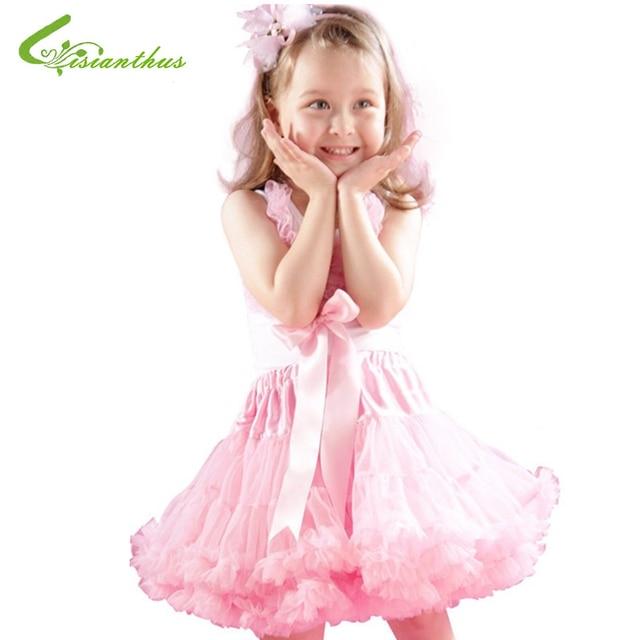 b6cf244a39b0 Baby Girls Chiffon Fluffy Pettiskirts Tutu Skirts Kids Girl Princess ...