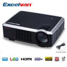 Excelvan LED33-02 Home Entertainment Proiettore 2000Lumens Supporto 1080P Hd Led Home Cinema Theater con Av/Vga/ hdmi/Usb Input(China)