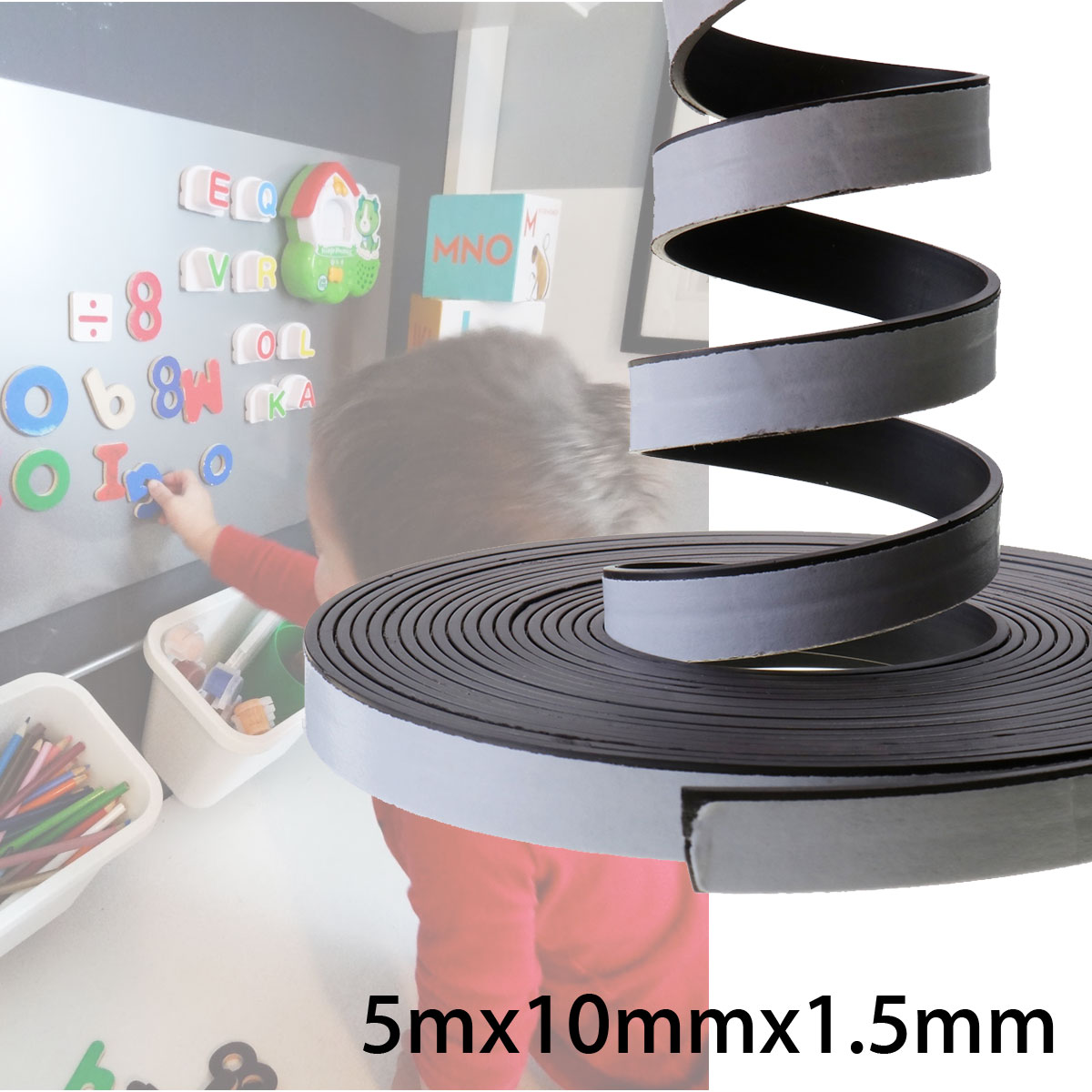 5M Self Adhesive Flexible Soft Rubber Magnetic Tape Magnet DIY Craft Strip Rolls 3080 00 craft tool strip