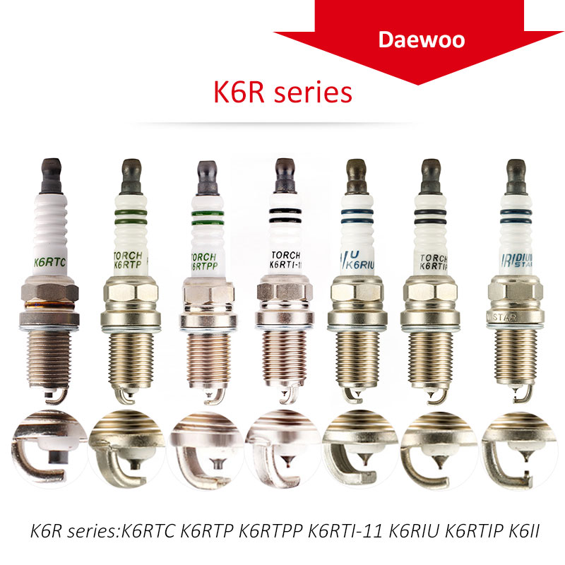 4pcs/lot China original TORCH  spark plugs K6R series for DAEWOO Traveler sedan;NEXIA 1.5 16V 1.6 A15MF F16D3 Glow Plugs