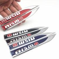 car sticker 2PCS/lot nismo logo Emblem Badge Decals Metal Fender Side Car Sticker for Nissan Tiida Teana Skyline Juke X-trail Almera (1)