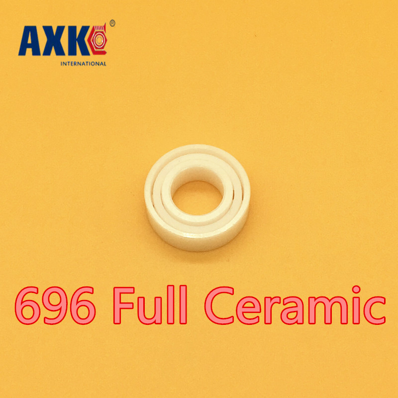 Rodamientos Rolamentos Axk 696 Full Ceramic Bearing ( 1 Pc ) 6*15*5 Mm Zro2 Material 696ce All Zirconia 619/6 Ball Bearings free shipping 697 619 7 7x17x5 mm full zro2 ceramic ball bearing