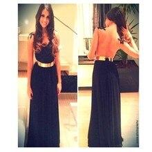 2016 Elegnat A-Linie Scoop SHER Zurück bodenlangen Abendkleid mit Aplliques Schwarz Abendkleid Benutzerdefinierte Vestido De Noche