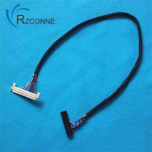 FIX-30P-D8 Universal LVDS Cable 30Pin Single 8bit 40cm Left Power for 26''-32'' LCD TV Monitor(China)