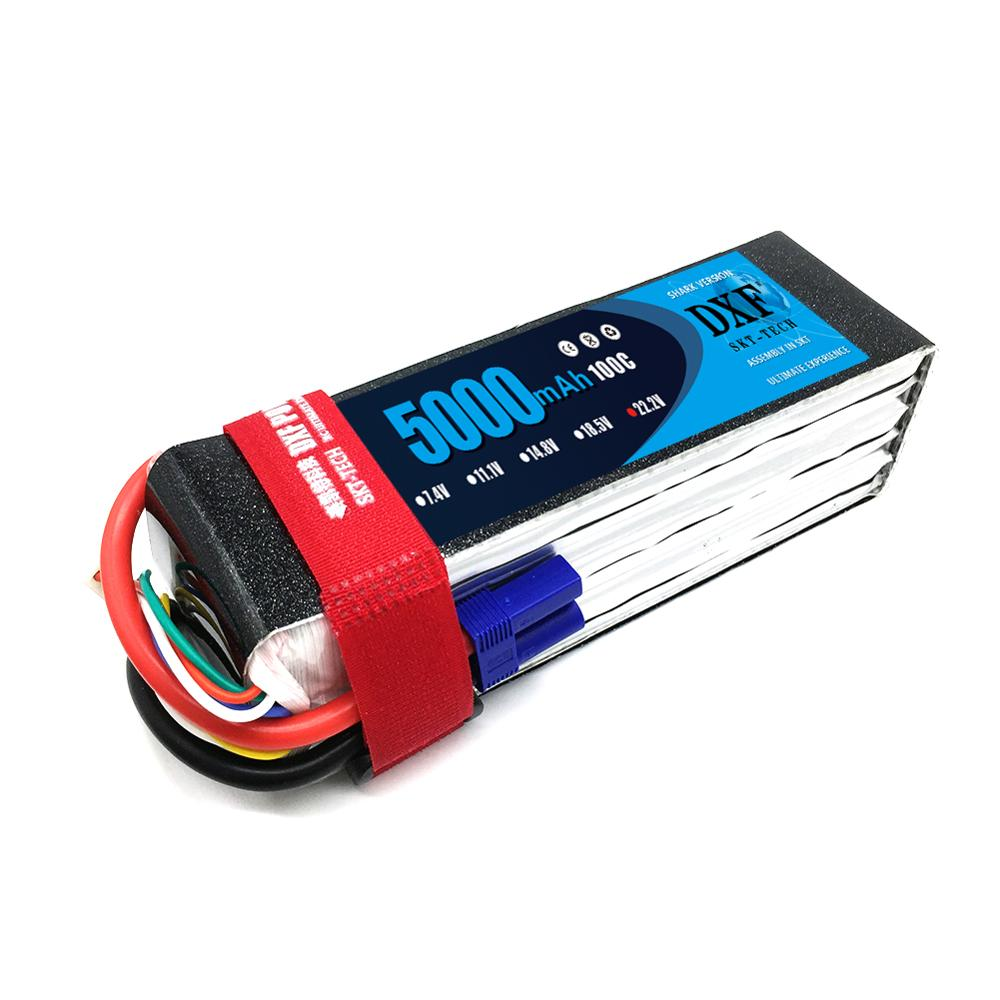 DXF Graphene Battery <font><b>Lipo</b></font> <font><b>6S</b></font> 22.2V <font><b>5000mAh</b></font> 100C-200C For Helicopter Quadcopter Truck Boat Robot RC Toys Batteria image