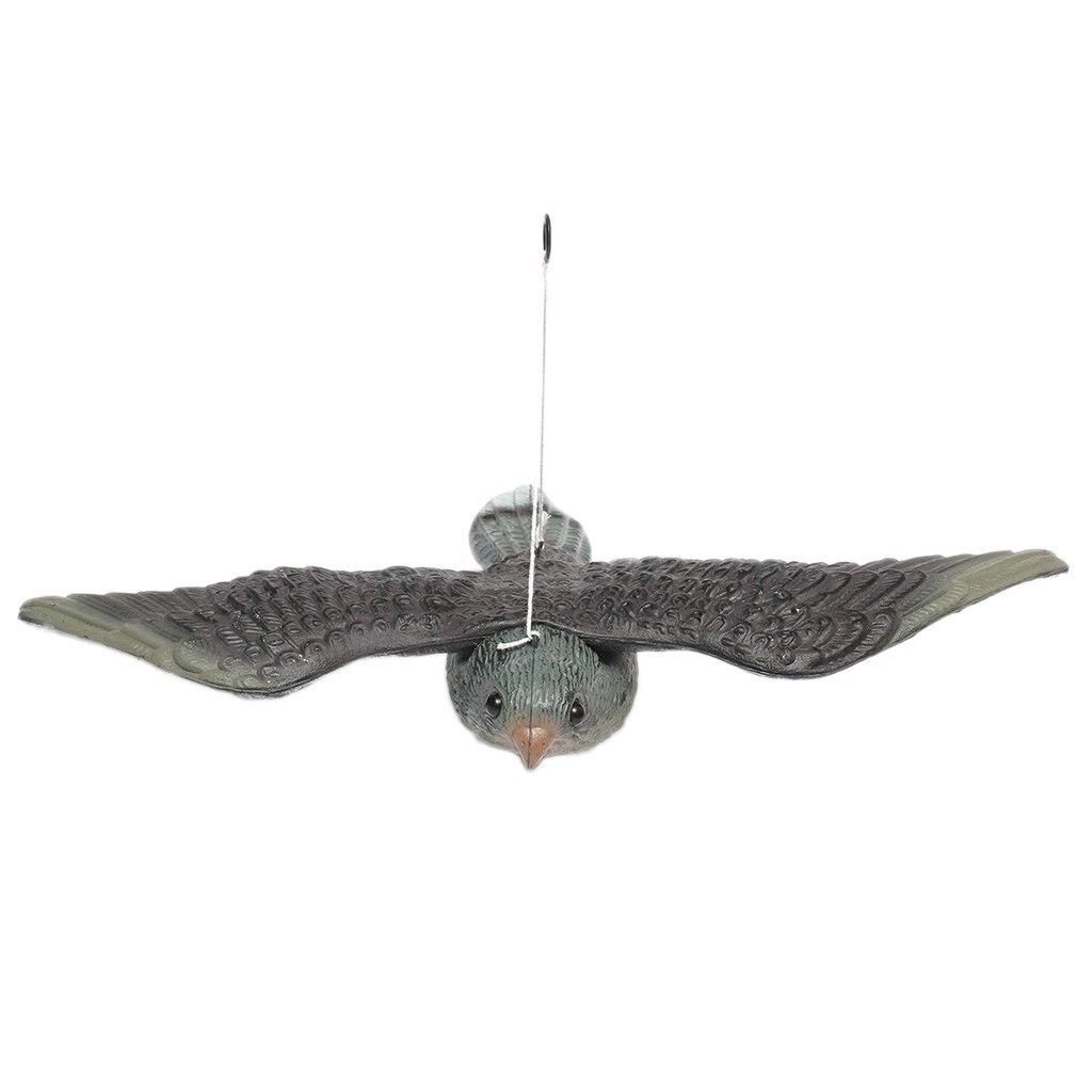 NOCM Realistische Fliegen Vogel Hawk Pigeon Lockvogel Schädlingsbekämpfung Garten Scarer Scarecrow Ornament