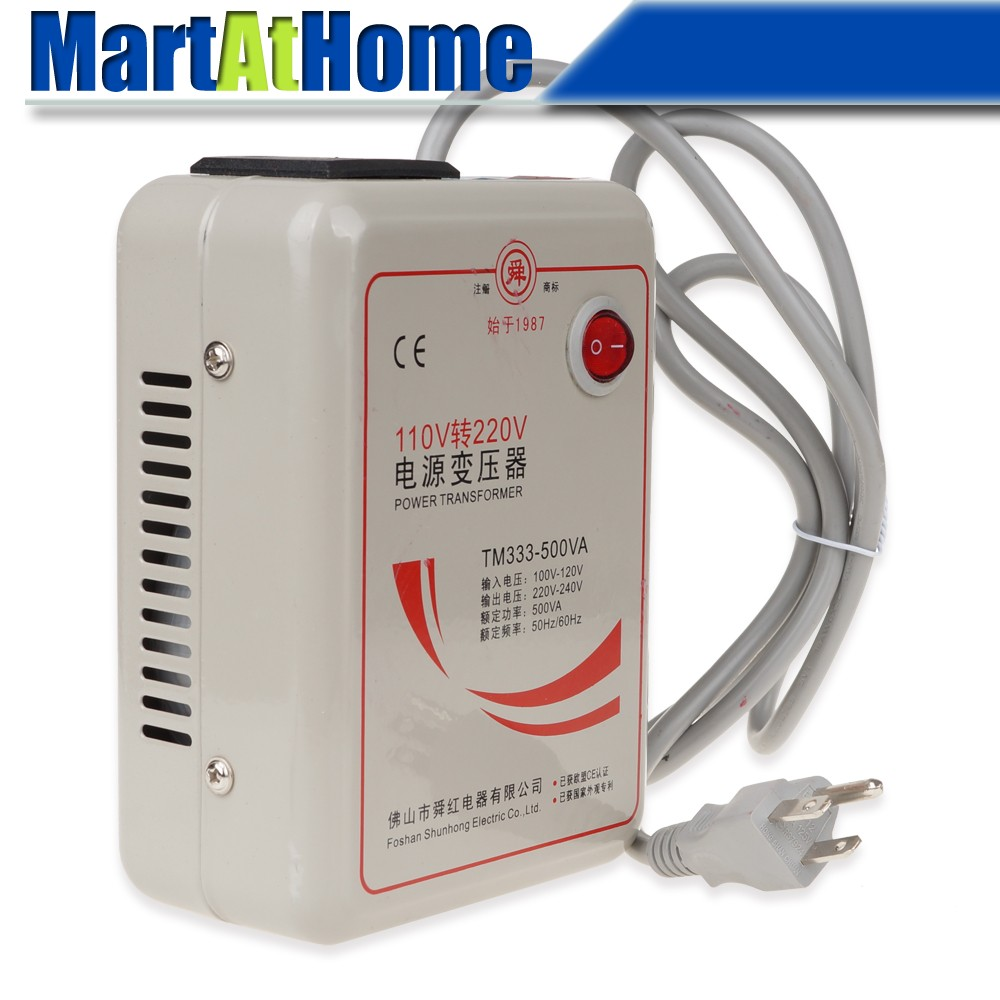 Free Shipping New AC 110V to 220 V 500W Step Up Voltage Converter Transformer Converts US