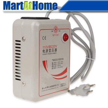 Free Shipping New AC 110V to 220 V 500W Step Up Voltage Converter Transformer Converts US Plug Dia. 0.28 inch Cable #BV169 @CF