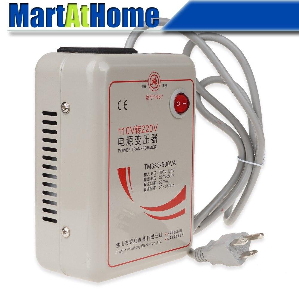 Livraison gratuite nouveau AC 110 V à 220 V 500 W convertisseur de tension transformateur convertit US Plug Dia. 0.28 pouce câble # BV169 @ CF