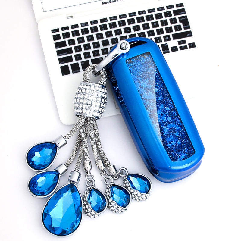 2019 TPU Quicksand Car Key Case For Mazda 3 6 Axela Atenza CX 5 CX 4 CX 7 Fashion Collocation Crystal Keyring in Key Case for Car from Automobiles Motorcycles