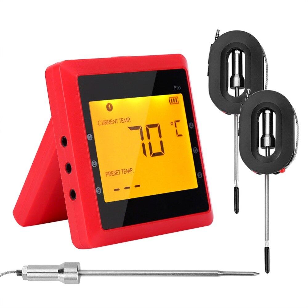 100 m Bluetooth Sans Fil Numérique Thermomètre De Cuisson Viande Testeur Mater pour BARBECUE Fumée avec 1200mm Longueur En Acier Inoxydable Sonde