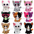 TY Plush Animals Beanie Boos Cat Collection 6'' 15cm Ty Big Eyes Stuffed Animals Cute Soft Toys for Children