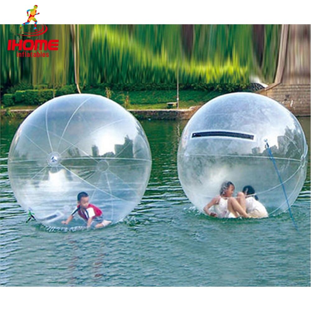 Boule gonflable de danse de l'eau de boule de marche de l'eau de PVC de 1.3-3 m avec l'importation/fermeture éclair normale pour des jouets de divertissement de l'eau de piscine