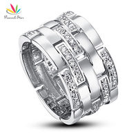 Drop Shipping Free Simulated Diamond 1 Cm Band Wedding Anniversary Sterling 925 Silver Ring CFR8005