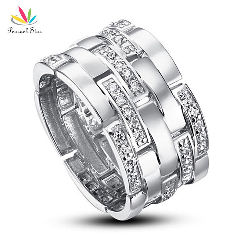 Drop Shipping Free Simulated Diamond cm Band Wedding Anniversary Sterling Silver Ring