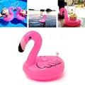 10 pçs/lote PVC Inflável Mini Bonito Flamingo Bebida Pode Titular Flutuante Piscina Piscina de Banho Praia Do Partido Dos Miúdos Brinquedo Brinquedo de Banho