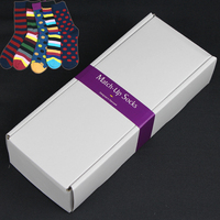 New Arrival Wholesale Customized Men S Gift Box Combed Cotton Socks Put Your Logo On Sticker