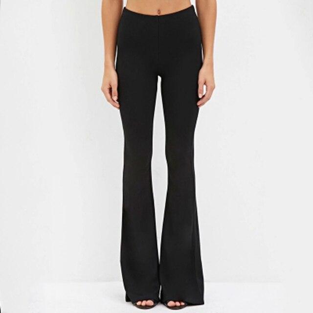 87b9de5f784c1e € 14.19 |Longue évasée pantalon pour femmes noir large jambe pantalon dames  rouge casual pantalon lâche femmes travail pantalon de mode grand ...