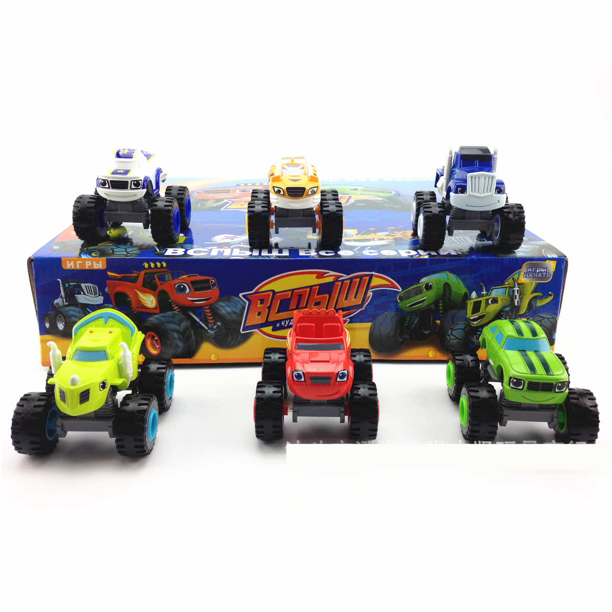 ФОТО 6pcs/set blaze monster machines vehicle car transformation abs 7.5cm toys best gifts kids promotion sliding birthday christmas