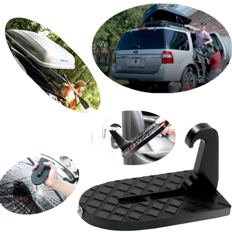 Car Door Step multifunci/ón plegable gancho pedales veh/ículo azotea cubierta de la azotea asistencia coche SUV Slam cierre puerta paso