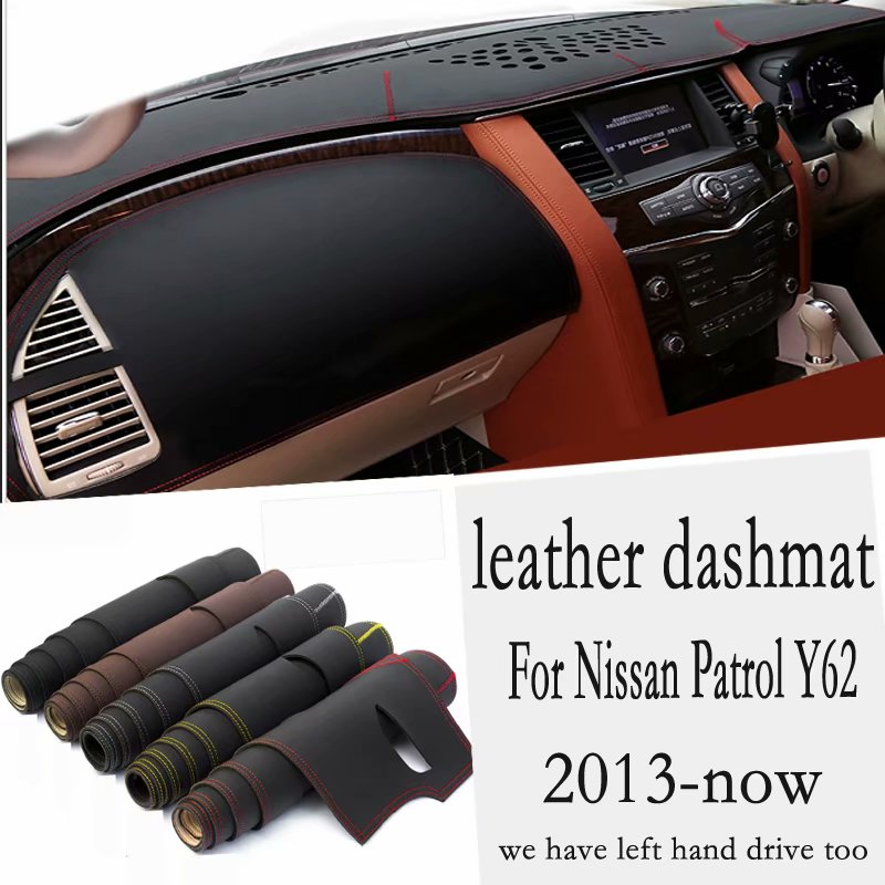 For Nissan Patrol Y62 2013 2014 2015 2016 2017 2018 2019 2020 Leather Dashmat Dashboard Cover Pad Dash Mat Carpet Car Styling