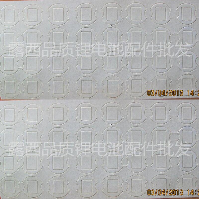 50 pcs 18650 bateria de lítio grupo da bateria, alta temperatura resistente double-sided placa de isolamento pad almofada de proteção de borracha peças de lote