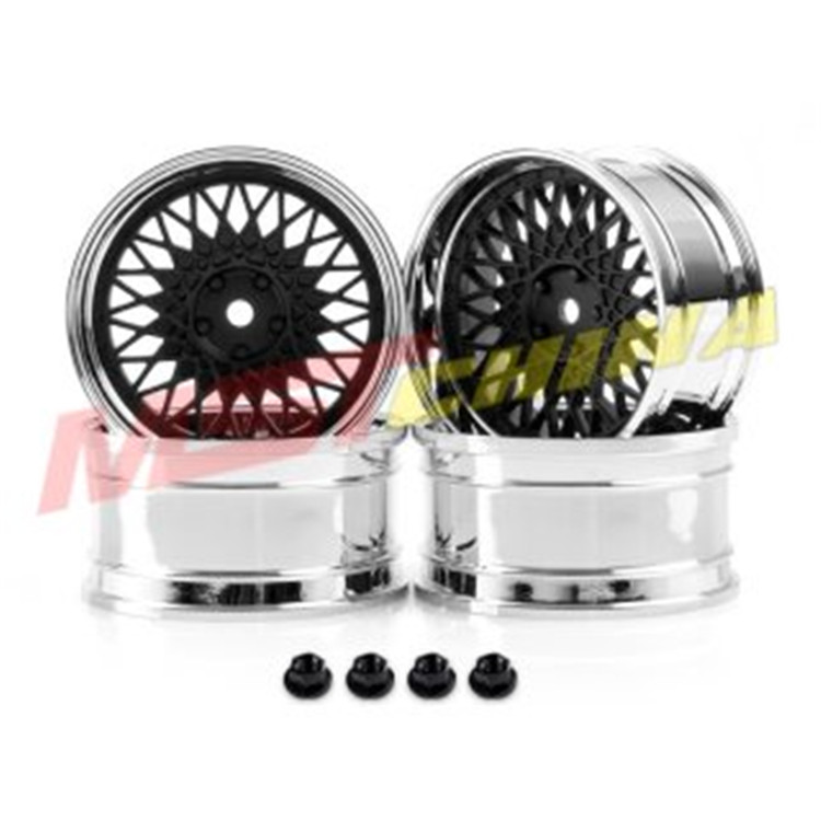 Remote Control Toys Mst Rim 102082fbk Black Silver Lm Wheels Tire Bell 1/10 Scale On Road Racing Drift For Kyosho