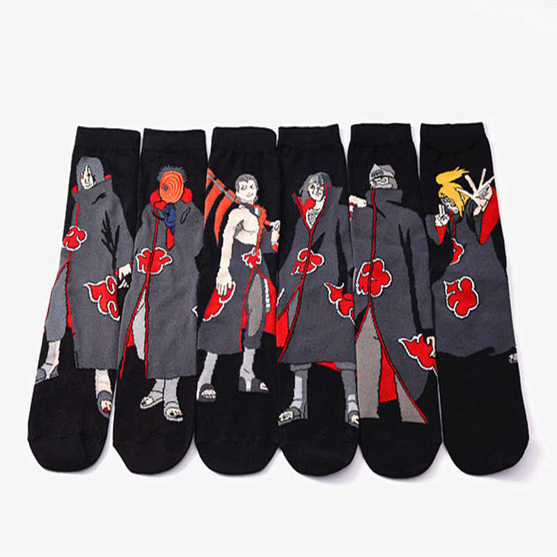 Anime Naruto Series Cosplay Socks Naruto Cotton Cartoon Socks Personality Tide Socks Men Calcetines Casual Funny Sock Meias Sox