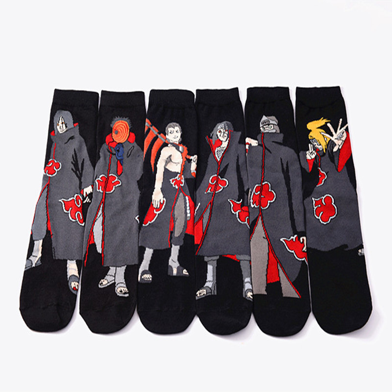 Anime Naruto Series Cosplay Socks Naruto Cotton Cartoon Socks Personality Tide Socks Men Calcetines Casual Funny Sock Meias Sox ...