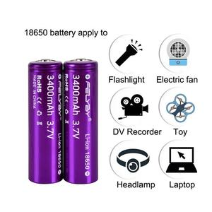 Image 3 - HOT!FELYBY New Original 18650 Battery 3.7V 3400mAh 2 10pcs High Capacity Lithium Rechargeable Batteries