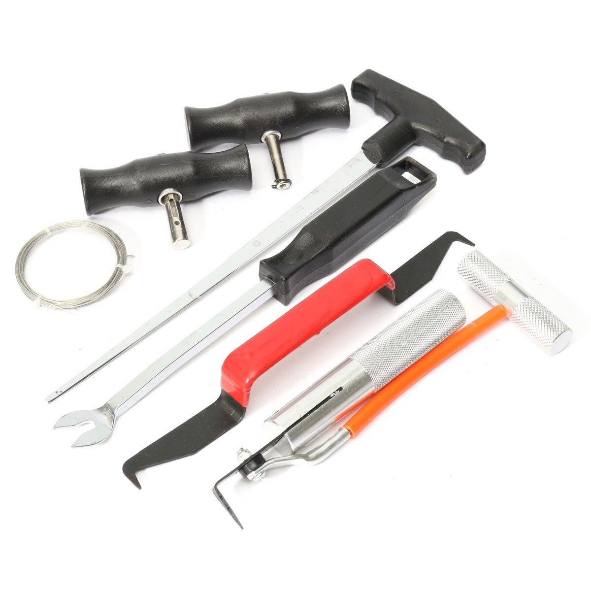 Цена за 7 Шт. Лобового Стекла Набор Для Резки Автомобиля Ветрового Removal Installation Tool Kit