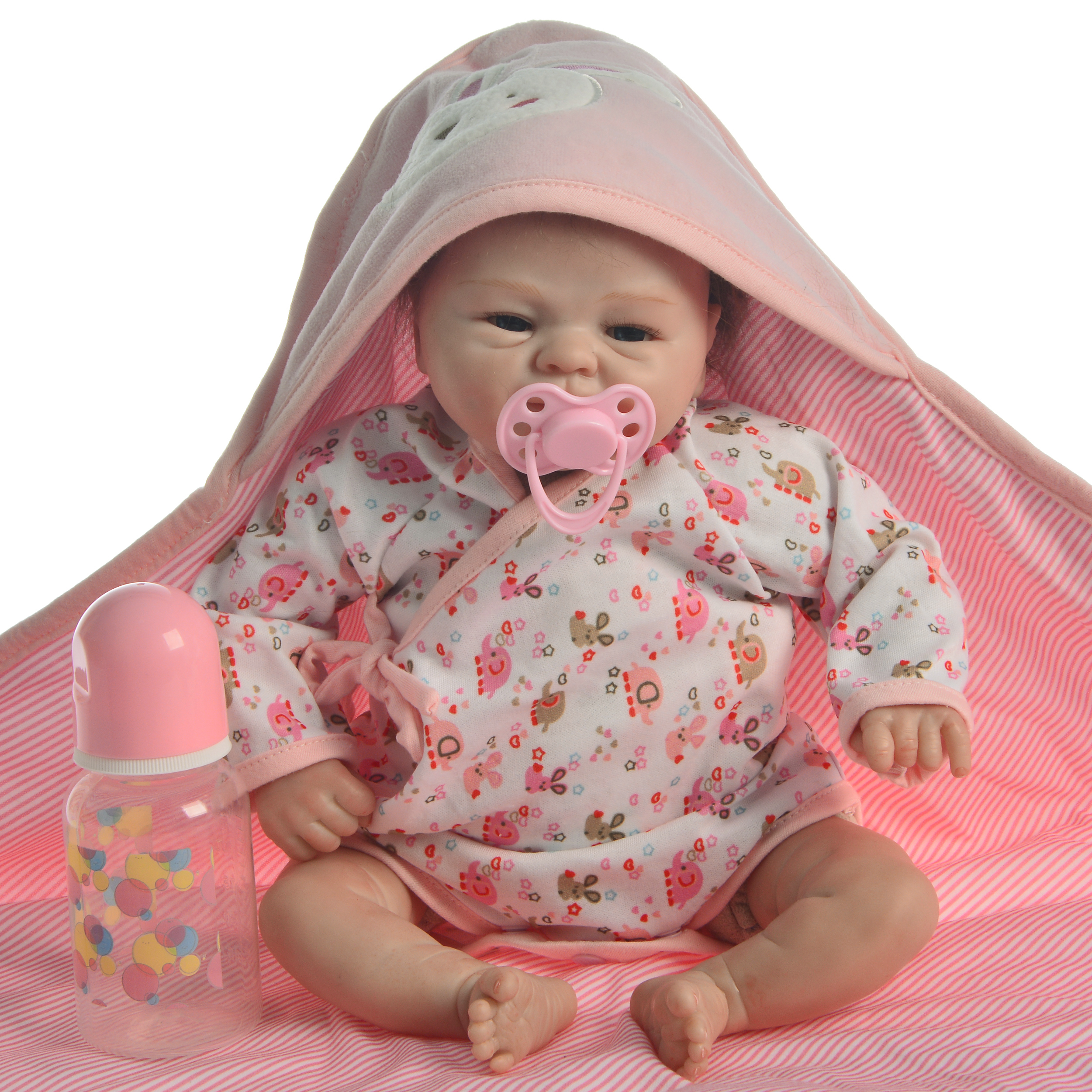 ที่ไม่ซ้ำกัน 17 ''นิ้ว 43 ซม.เหมือนจริงเด็ก Reborn ตุ๊กตาทารกตุ๊กตาซิลิโคน Reborn ทารกเล็กๆของเล่นเด็กวันเกิดของขวัญ-ใน ตุ๊กตา จาก ของเล่นและงานอดิเรก บน   2