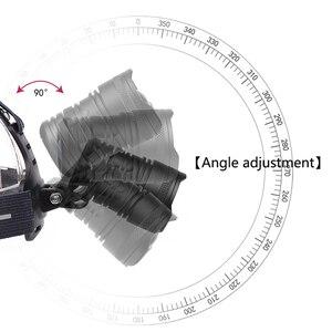 Image 5 - Pha Đèn Đèn Pha Đèn Pin Đèn Pin Ban Đầu 3 Bóng Đèn Xhp70.2 LED 18650 Pin Litwod Phóng To/Ra Lithium Ion