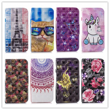 For Coque Wiko Lenny 4 Case PU Leather Wallet Flip Cover Stand Phone Bag Lenny4 Fundas