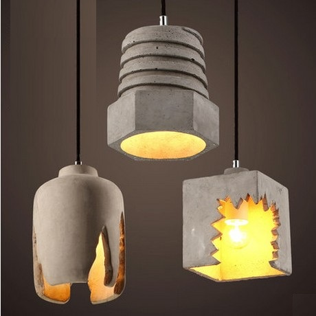 Retro Loft Style Industrial Cement Droplight LED Vintage Pendant Light Fixtures For Dining Room Hanging Lamp Indoor Lighting retro loft style iron cage droplight industrial edison vintage pendant lamps dining room hanging light fixtures indoor lighting