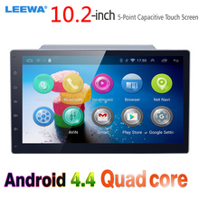 LEEWA 10.2″ 10.2inch Bigger HD Screen Android 4.4 Quad Core Car Media Player With GPS Navi Radio For  Universal 2DIN ISO #CA1221