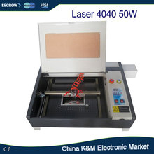 Hot Sell 50W CO2 Laser 4040 engraving machine carving machine,cutting machine with Rotary axis