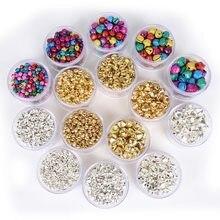 6/8/10/12/14mm ouro tira cor jingle bells ferro grânulos soltos natal decoração para casa diy artesanato acessórios