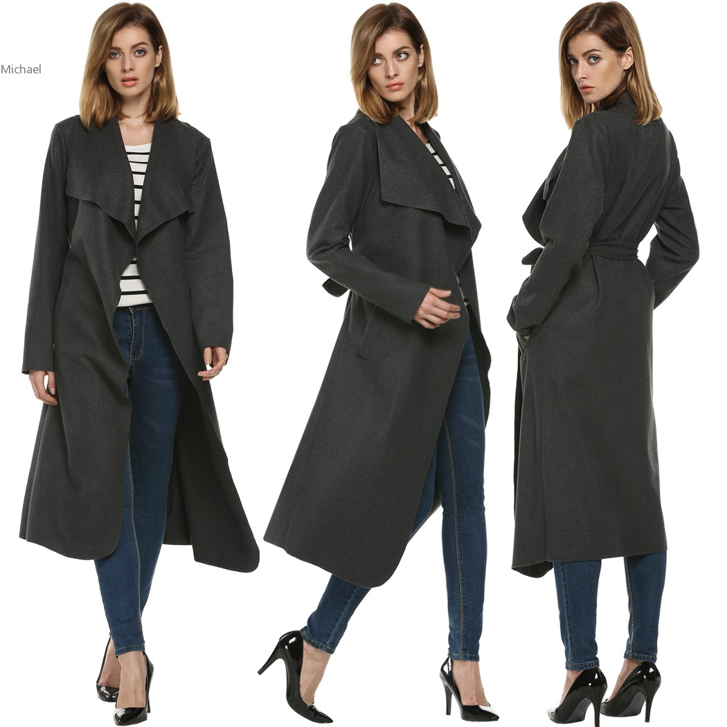 Popular Grey Wool Coat-Buy Cheap Grey Wool Coat lots from China ...