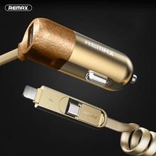 Encendedor de cigarrillos del coche Adaptador de Cargador de Móvil 2en1 USB Cable para Micro a iphone ipad samsung huawei lg vivo letv 2.4a 1.0 a de salida